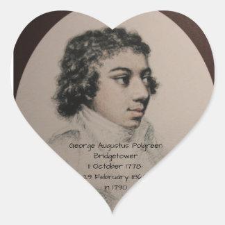 George Augustus Polgreen Bridgetower 1790 Heart Sticker