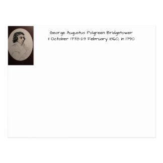 George Augustus Polgreen Bridgetower 1790 Postcard