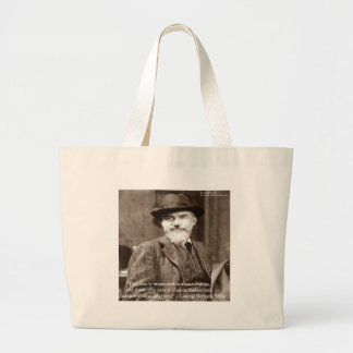 """George B Shaw """"Change Anything"""" Wisdom Gifts Large Tote Bag"""