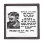 George B. Shaw I no cree en circunstancias Cajas De Recuerdo De Calidad