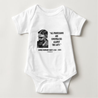 George B. Shaw Professions Conspiracies Laity Baby Bodysuit