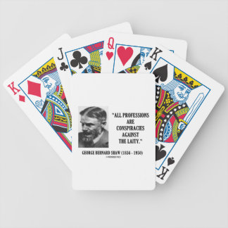 George B. Shaw Professions Conspiracies Laity Bicycle Playing Cards