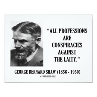 George B. Shaw Professions Conspiracies Laity Card