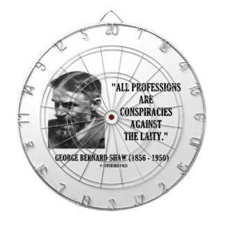 George B. Shaw Professions Conspiracies Laity Dartboard With Darts