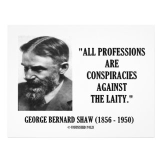 George B Shaw Professions Conspiracies Laity Full Color Flyer