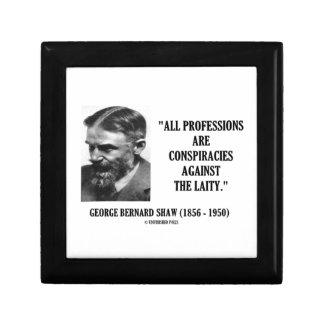 George B. Shaw Professions Conspiracies Laity Jewelry Box