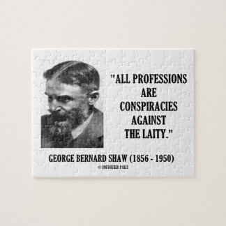 George B. Shaw Professions Conspiracies Laity Jigsaw Puzzle