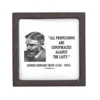 George B. Shaw Professions Conspiracies Laity Keepsake Box