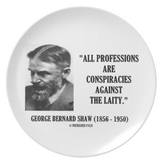 George B. Shaw Professions Conspiracies Laity Plate