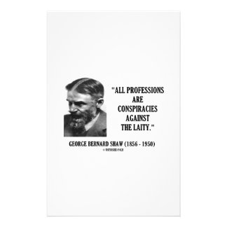 George B. Shaw Professions Conspiracies Laity Stationery
