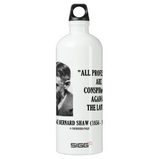 George B. Shaw Professions Conspiracies Laity Water Bottle