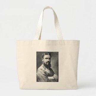 George B Shaw Quarrel/Breeding Wisdom Quote Gifts Large Tote Bag