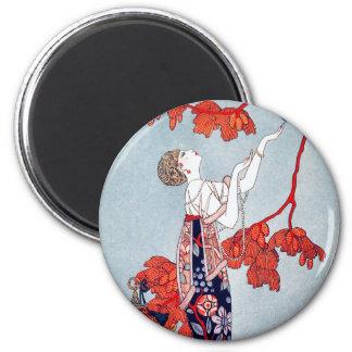 "George Barbier ""L'Oiseau Volage"" 1914 2 Inch Round Magnet"