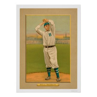 George Bell Dodgers Baseball 1911 Poster