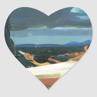 George Bellows The Big Dory Heart Sticker