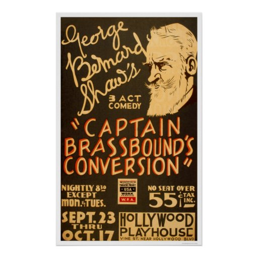 George Bernard Shaw 1938 WPA Poster