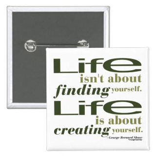 George Bernard Shaw Quote 2 Inch Square Button
