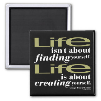 George Bernard Shaw Quote 2 Inch Square Magnet