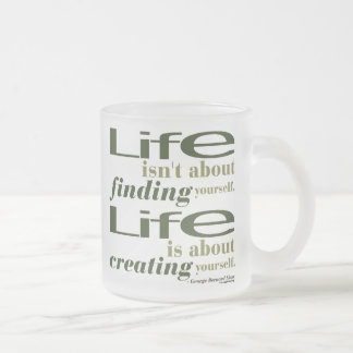 George Bernard Shaw Quote Frosted Glass Coffee Mug