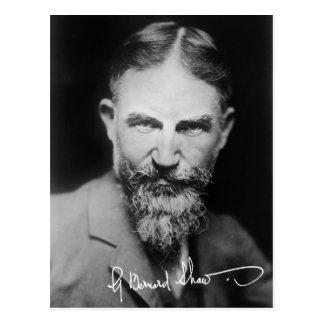 George Bernard Shaw - retrato Tarjeta Postal