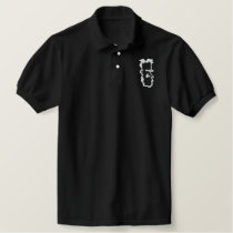 George Bernard Shaw - White on Dark Fabric Embroidered Polo Shirt