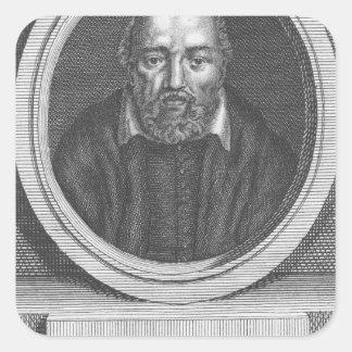 George Buchanan, engraved for Universal Magazine Square Sticker