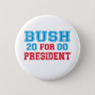 George Bush 2000 Retro Pinback Button