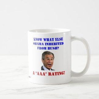 George Bush: AAA Rating Coffee Mug