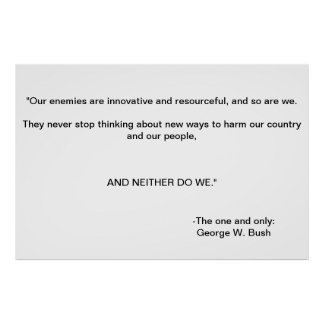 George Bush campaign poster