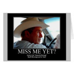 George Bush Greeting Card