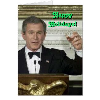George Bush Happy Holidays Card