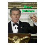 George Bush Happy Holidays Card Greeting Cards