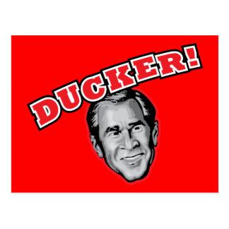 George Bush Is A Ducker - Reporter Shoe Attack! Postcard