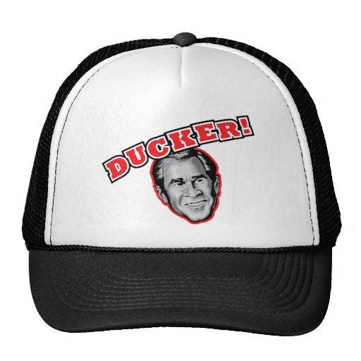 George Bush Is A Ducker - Reporter Shoe Attack! Trucker Hat