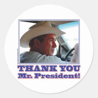 ¡George Bush/le agradece! Pegatina