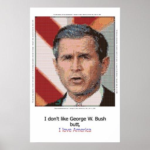 George Bush Mosiac Posters