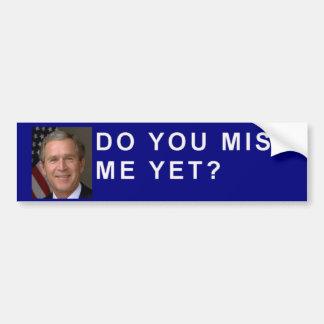 ¿George Bush pide usted me falta todavía Etiqueta De Parachoque