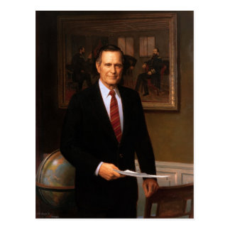 George Bush Postcard