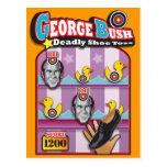 George Bush - Reporter Shoe Throw Attack! Postcard