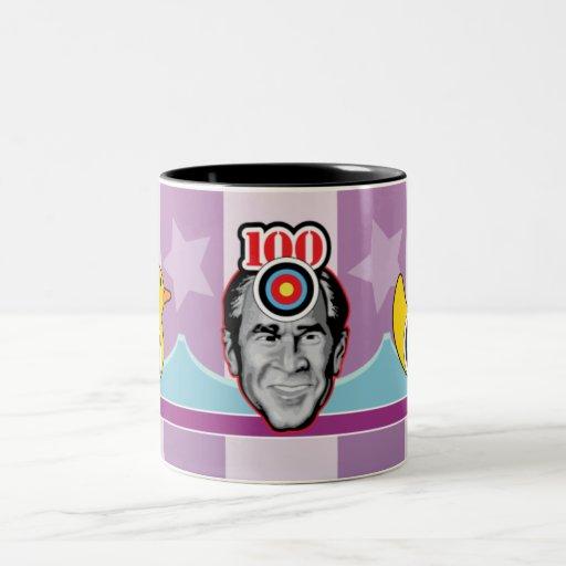 George Bush - Shoe Attack! Two-Tone Coffee Mug