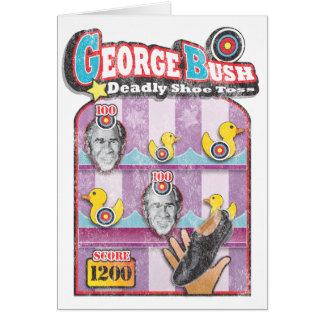 George Bush - Shoe Throw Attack! Card