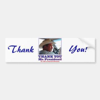George Bush/Thank you! Bumper Sticker