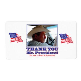 George Bush/Thank you! Label