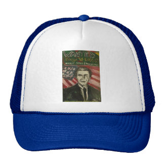 george bush wanted blue/white hat