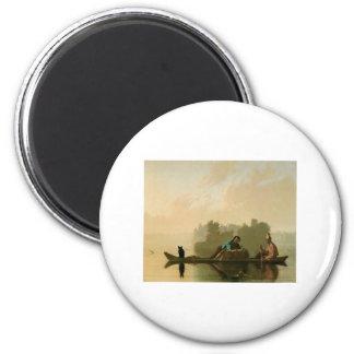 George Caleb Bingham Fur Traders 2 Inch Round Magnet