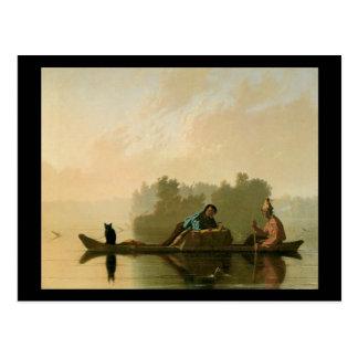 George Caleb Bingham Fur Traders Postcard