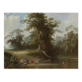 George Caleb Bingham - Landscape, Rural Scene Postcard