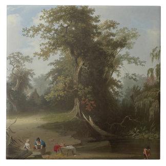 George Caleb Bingham - Landscape, Rural Scene Tile