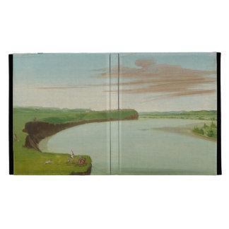 George Catlin - Distant View of the Mandan Village iPad Folio Cases