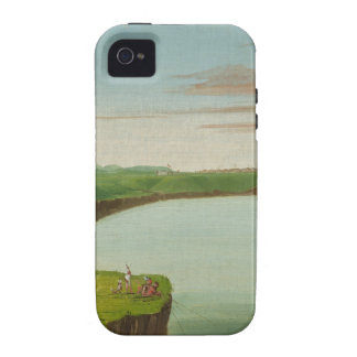 George Catlin - Distant View of the Mandan Village Case-Mate iPhone 4 Cover